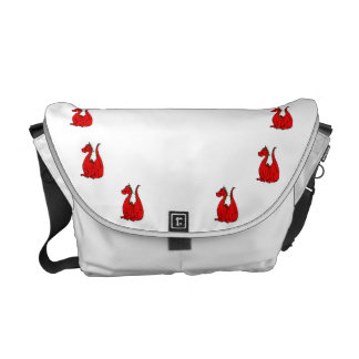 Red & Green Dragon.png Courier Bags