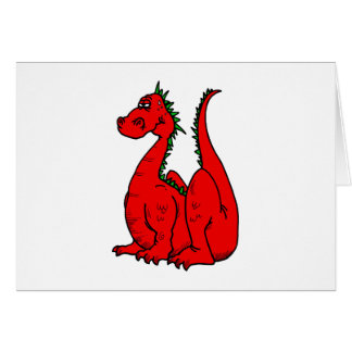 Red & Green Dragon.png Greeting Cards