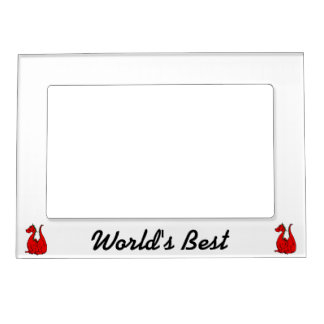 Red & Green Dragon.png Photo Frame Magnet