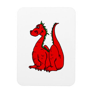Red & Green Dragon.png Rectangle Magnet