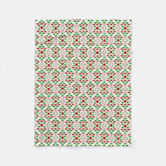 Red green fleece blanket