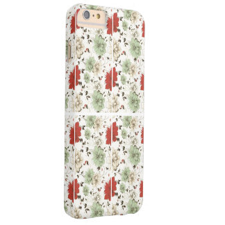 RED GREEN FLORAL BARELY THERE iPhone 6 PLUS CASE