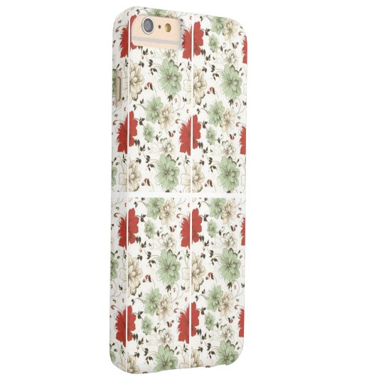 RED GREEN FLORAL BARELY THERE iPhone 6 PLUS