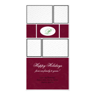 Red & Green Formal Christmas Picture Card