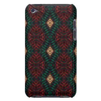 Red, Green & Gold Textured Diamonds iPod Touch Cases