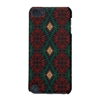 Red, Green & Gold Textured Diamonds iPod Touch 5G Cases