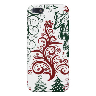 Red Green Holiday Christmas Tree Pattern iPhone 5 Covers