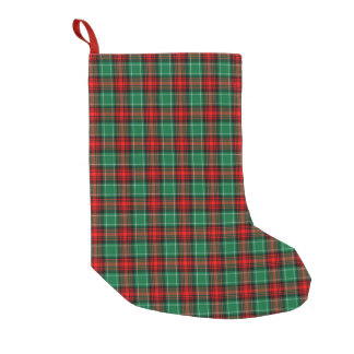 Red Green Holiday Plaid Pattern Stocking