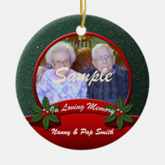 Red Green Holly In Loving Memory Christmas Christmas Ornament