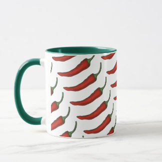Red Green Hot Spicy Chili Chile Pepper Foodie Mug
