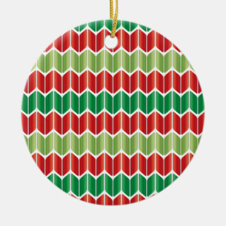 Red Green Large Knit Christmas Ornament