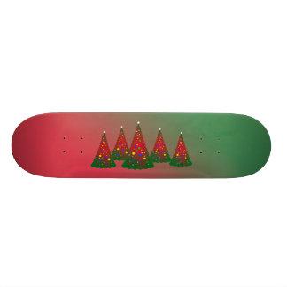 Red Green Merry Christmas Tree 18.4 Cm Mini Skateboard Deck