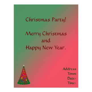 Red Green Merry Christmas Tree 21.5 Cm X 28 Cm Flyer
