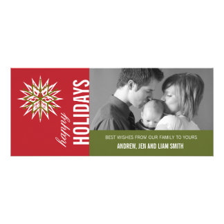 RED GREEN MODERN HOLIDAY PHOTO CARD