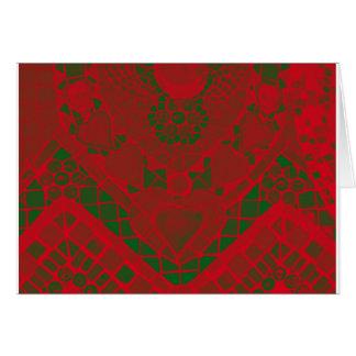 red green mosaic card