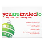 Red green ornament Christmas holiday custom party Personalized Announcement