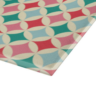 Red, Green, Pink, and Light Blue Diamonds Cutting Board