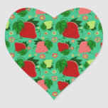 Red Green Pink Strawberries