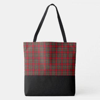 Red & Green Plaid Tote Bag-LRG