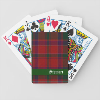 Red & Green Stewart Tartan Plaid Playing Cards