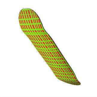 Red/Green Stipes FriedlanderWann Design Skate Board Decks