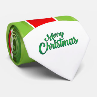 Red/Green Stripes/ Merry Christmas Tie
