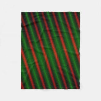 Red & Green Stripes or Lines Fleece Blanket