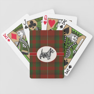 Red & Green Stuart of Brut Plaid Playing Cards
