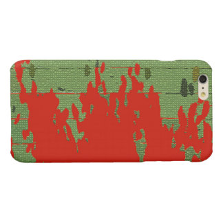 Red Green Texture Cool iPhone 6 Plus Case