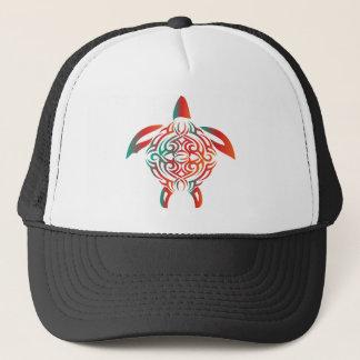 Red-Green-turtle Trucker Hat