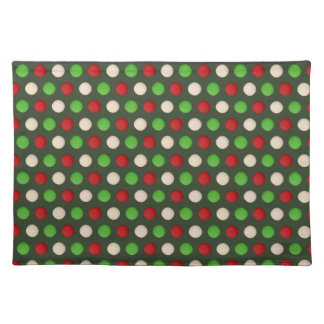 Red Green White Polka Dot Placemat