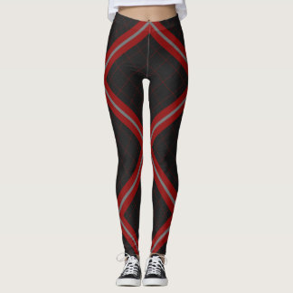 Red, Grey and Plaid Leggings