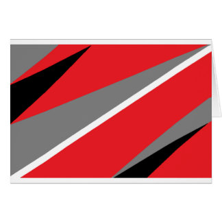 red grey and white greeting card