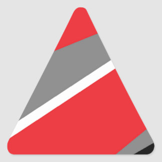 red grey and white triangle sticker