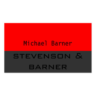 Red Grey Black Out Business Card
