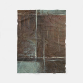 Red & Grey Brick Wall Fleece Blanket
