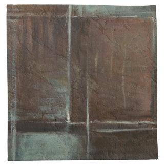 Red & Grey Brick Wall Napkin