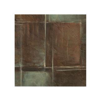 Red & Grey Brick Wall Wood Print