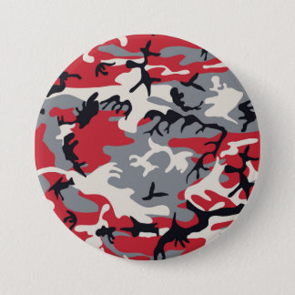 Red Grey Camo Camouflage Pattern 7.5 Cm Round Badge