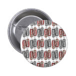 Red & Grey Classic Sneaker Pattern 6 Cm Round Badge