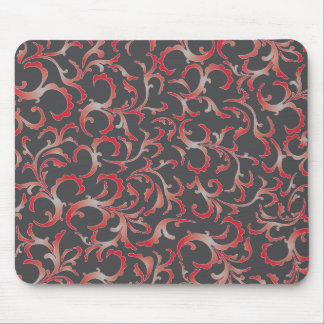red grey floral mouse pad