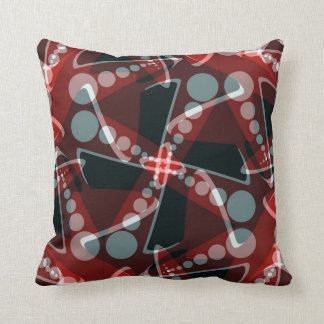 Red+Grey Modern Abstract Home Decor Cushion