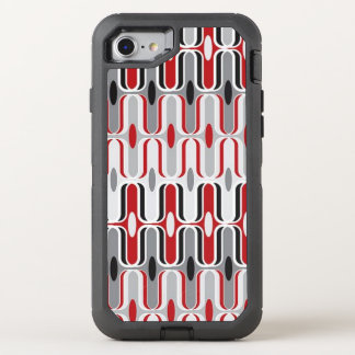 Red Grey Ripple OtterBox Defender iPhone 8/7 Case