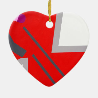 Red&Grey ZigZag Christmas Ornament