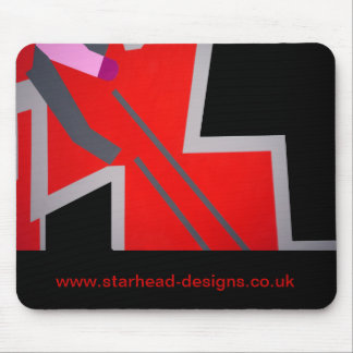 Red&Grey ZigZag Mouse Pad