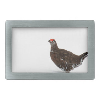 Red grouse belt buckles
