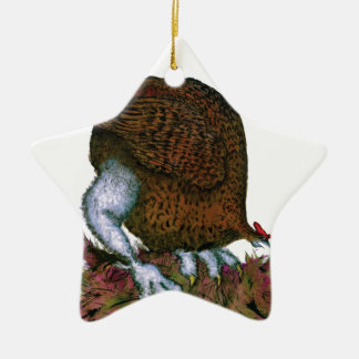 Red Grouse bird, tony fernandes Christmas Ornament