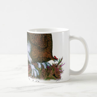 red grouse bird with egg, tony fernandes mugs