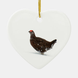 Red grouse christmas ornament