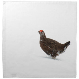 Red grouse napkin